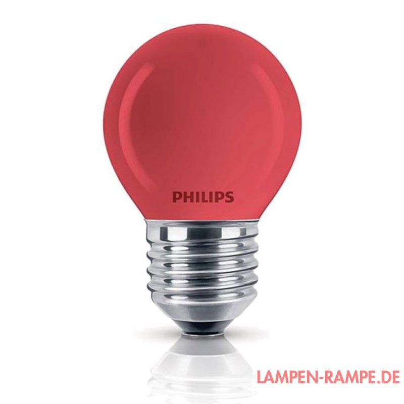 philips 177438 gl hbirne deco 15w e27 rot 1 49 lampen r. Black Bedroom Furniture Sets. Home Design Ideas
