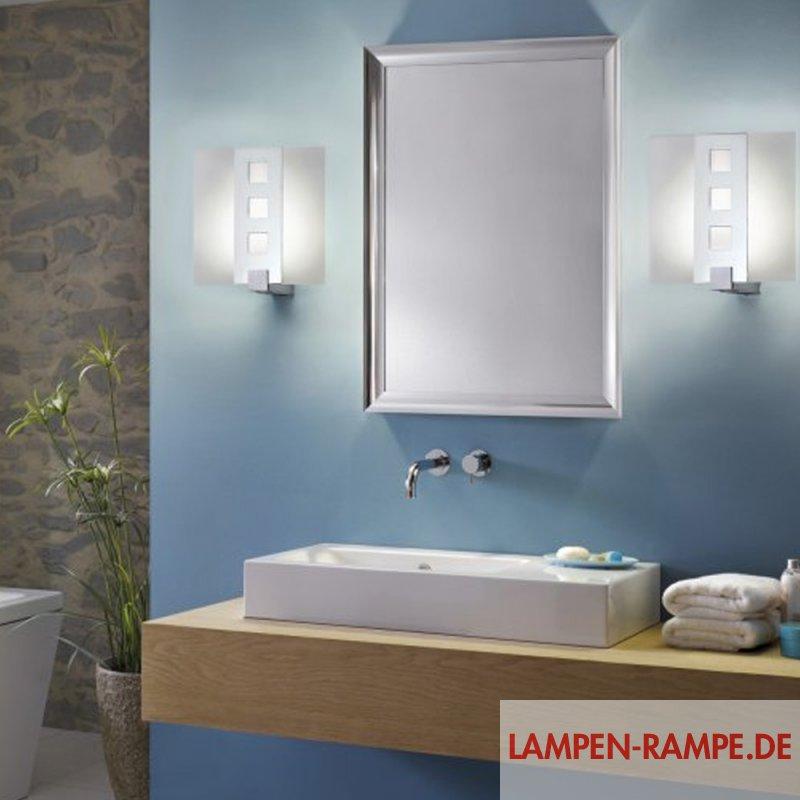 Paulmann decosystems basic wall light 1x11w e27 ch for Bathroom ideas grey and blue