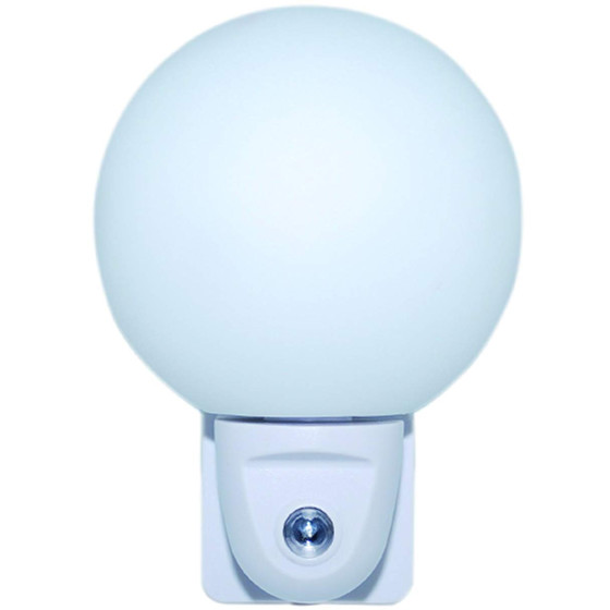 IBV 999102-100 LED Steckdosen-Nachtlicht Kugel Dämmerungssensor Orientierungsl.
