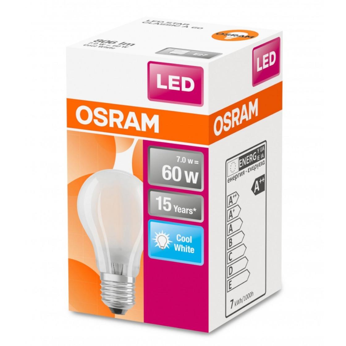OSRAM LED STAR CLASSIC A 60 E27 7 W wie 60 W kaltweiß nicht dimmbar