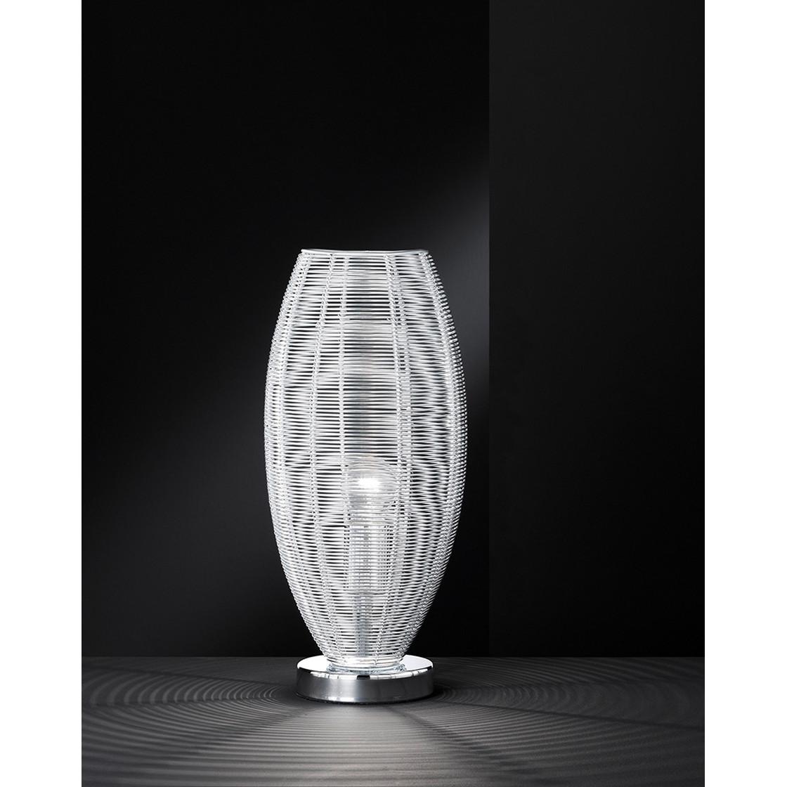 wofi modena tischleuchte silber oval lampen rampe d 39 99. Black Bedroom Furniture Sets. Home Design Ideas