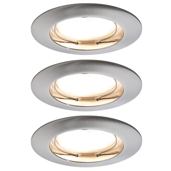 paulmann einbauleuchten set premium coin dimmbar led 7 w eise 76 46. Black Bedroom Furniture Sets. Home Design Ideas
