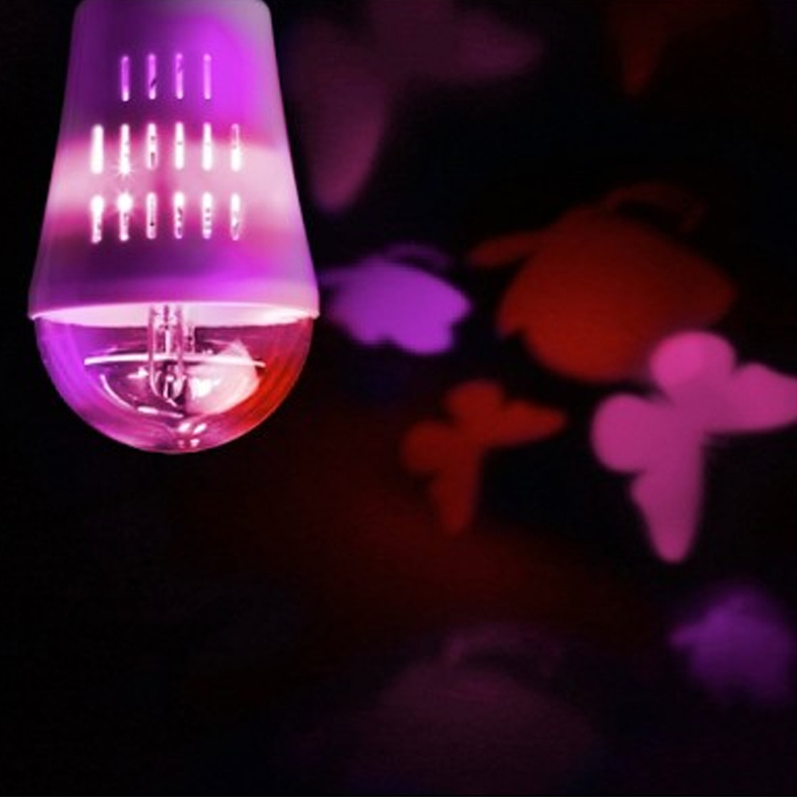 wofi 9744 action 4w e27 led deko schmetterling lampen. Black Bedroom Furniture Sets. Home Design Ideas