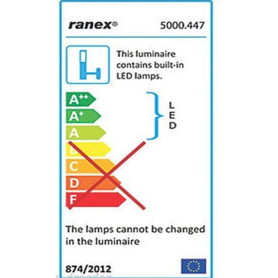 Ranex 5000.447 FARO 3,6 W LED Wandleuchte Schwarz IP54
