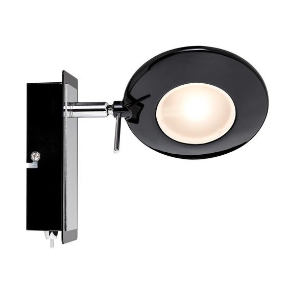paulmann orb strahler led 1x3w schwarz chrom inkl leuchtmitte 11 95. Black Bedroom Furniture Sets. Home Design Ideas