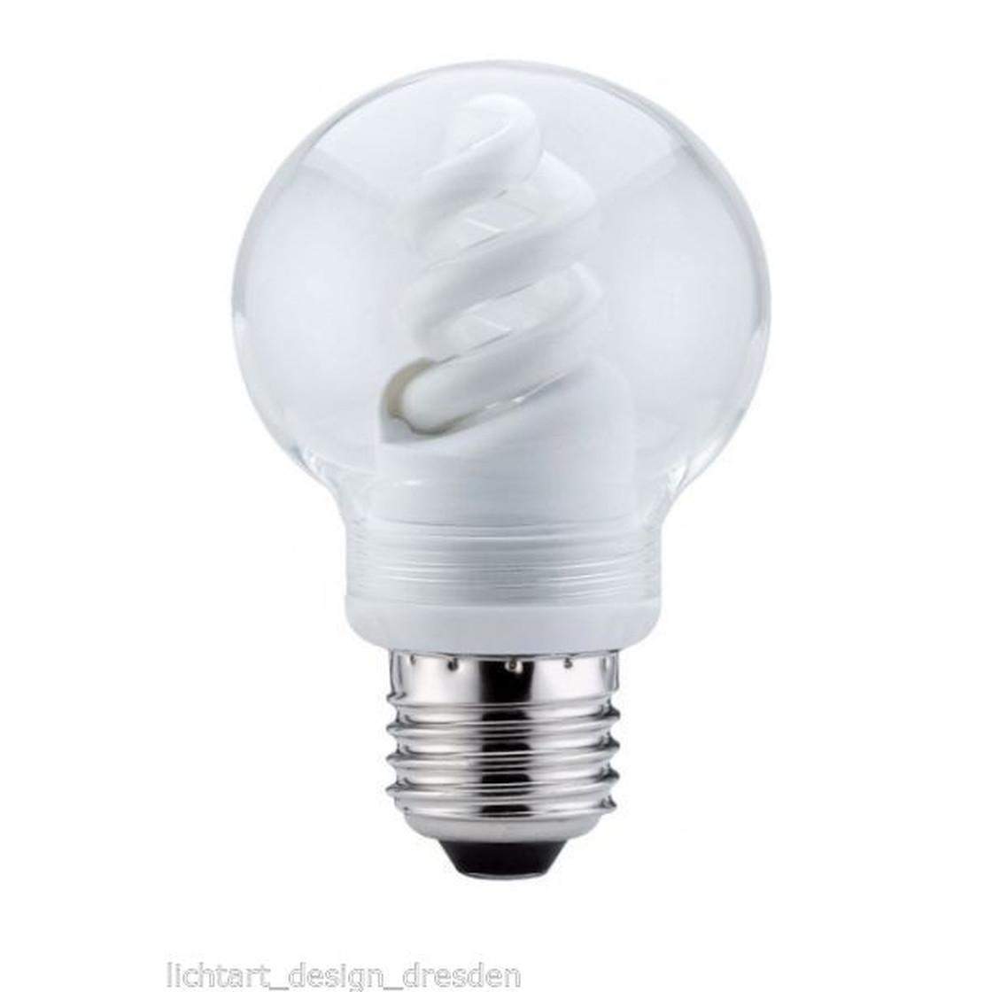 paulmann globe 60 energiesparlampe 7 w klar e27 g nstiger 8701 1 99. Black Bedroom Furniture Sets. Home Design Ideas