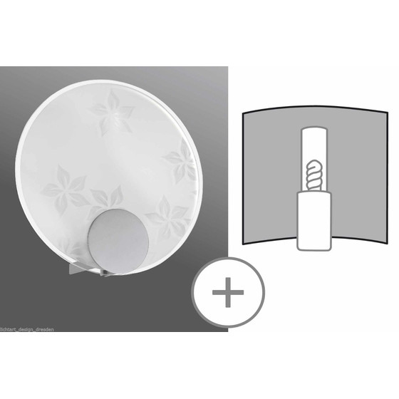 Paulmann 701.14 Decosystems Schirm Wall Light Disc Flower Satin max. 40W 70114