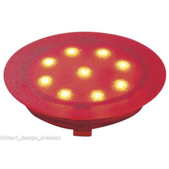 paulmann profi line led einbaustrahler 1w rot ip67 12v 45mm 7 99. Black Bedroom Furniture Sets. Home Design Ideas