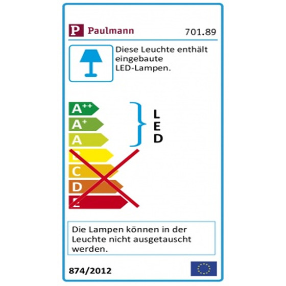 Paulmann 701.89 ModuLED Tube LED Leiste Erweiterungsset 1x1,8W Chrom matt