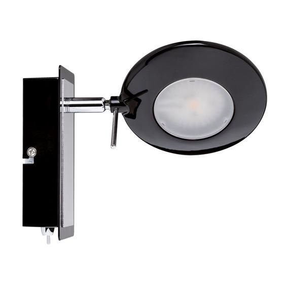 4 st ck paulmann orb strahler led 1x3w schwarz chrom inkl leu 35 95. Black Bedroom Furniture Sets. Home Design Ideas