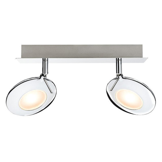 paulmann orb strahler led 2x3w chrom inkl leuchtmittel spot w 39 99. Black Bedroom Furniture Sets. Home Design Ideas