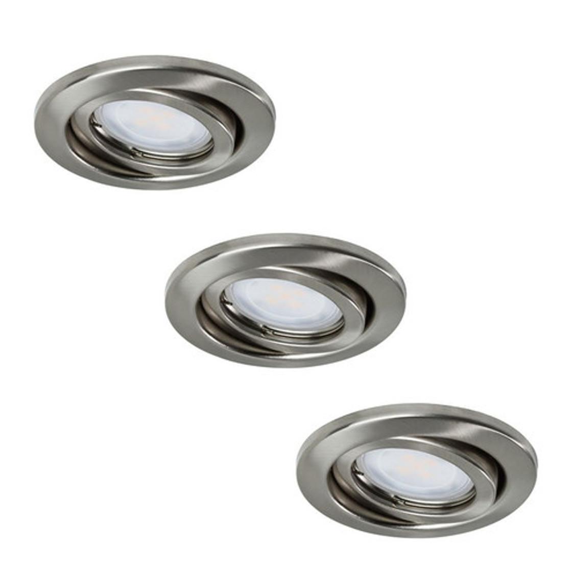 Einbauleuchte Paulmann Quality 3er Set schwenkbar LED 3x3,5W GU10  Eisen geb