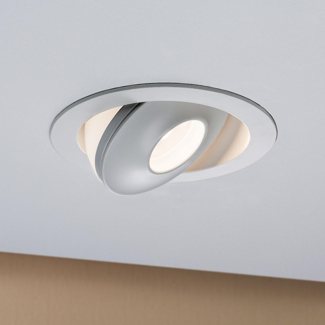 paulmann einbauleuchte led drip 8w weiss dimmbar und kippbar i 54 99. Black Bedroom Furniture Sets. Home Design Ideas