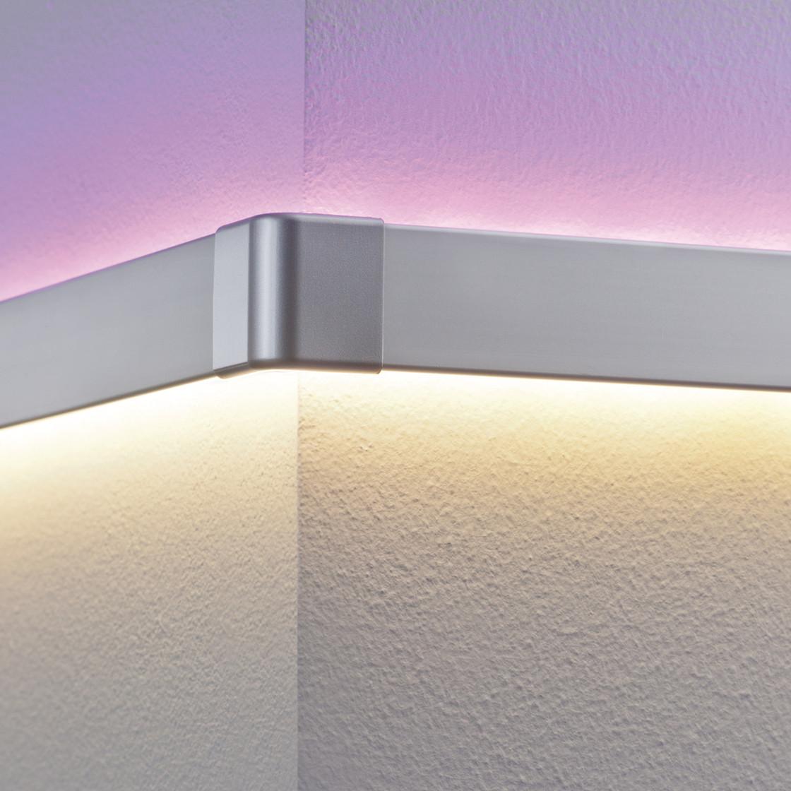 2er set paulmann duo profil corner eckprofil led leiste stripe. Black Bedroom Furniture Sets. Home Design Ideas