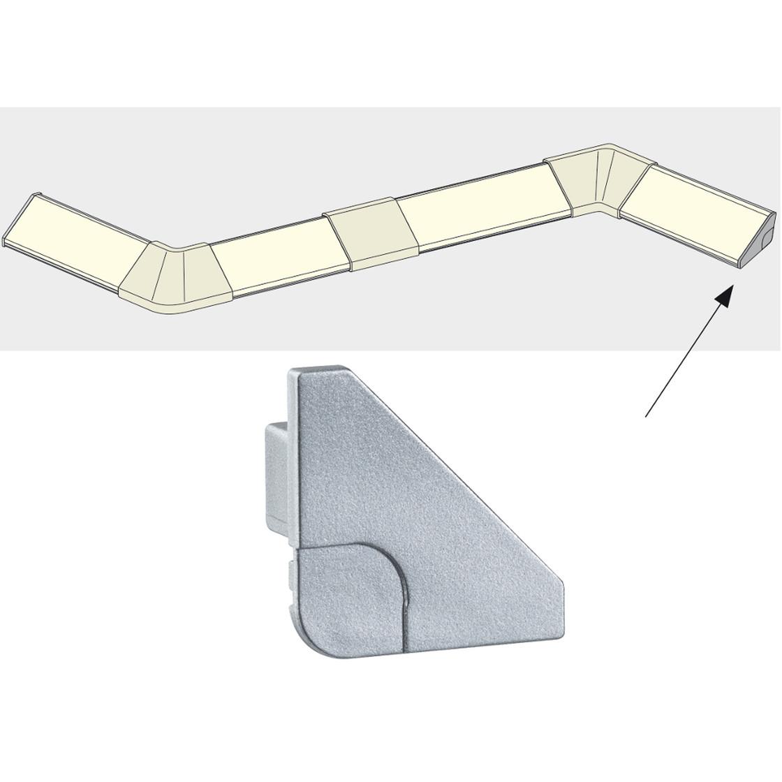 2er set paulmann delta profil corner eckprofil led leiste stri. Black Bedroom Furniture Sets. Home Design Ideas