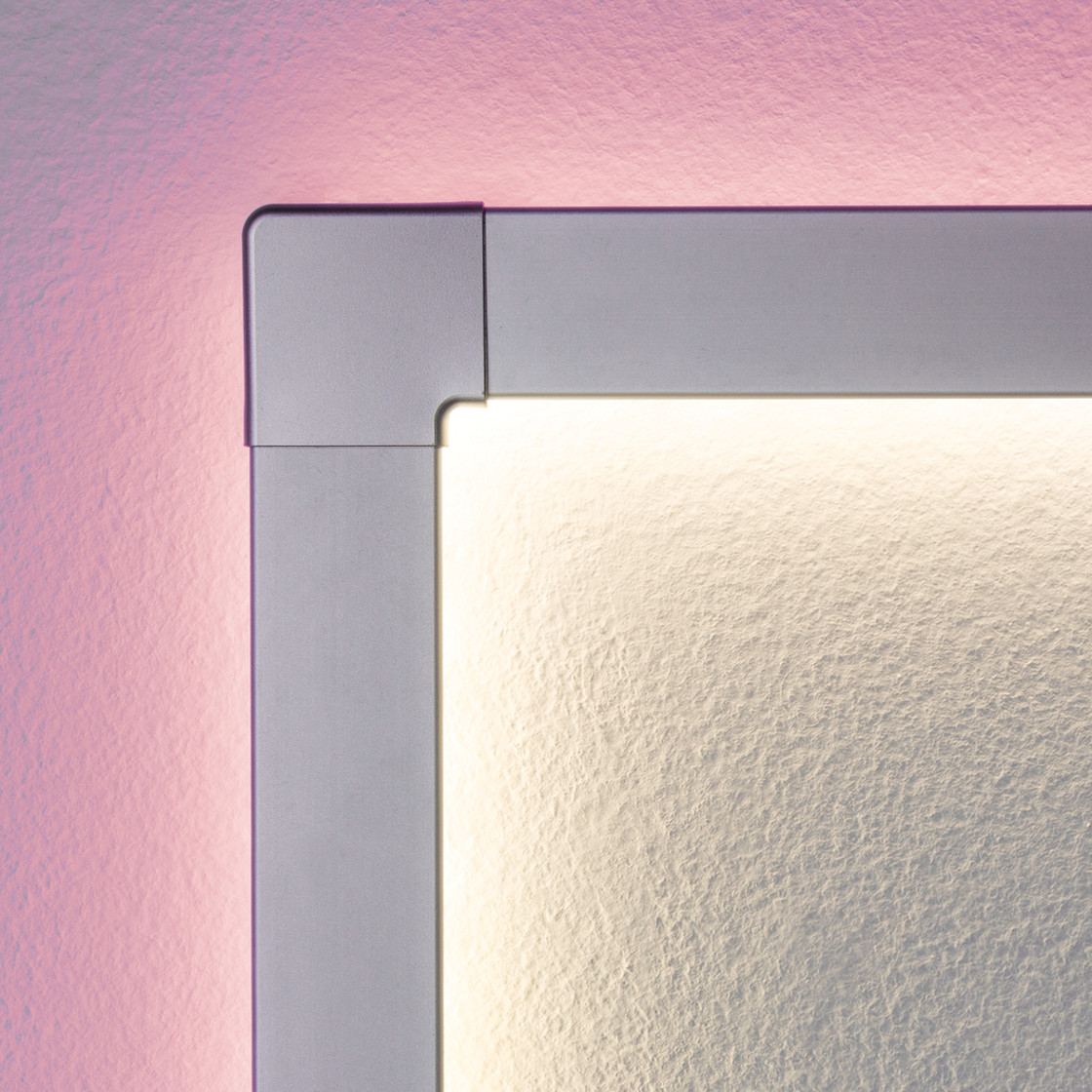 2er set paulmann duo profil corner 90 eckprofil led leist. Black Bedroom Furniture Sets. Home Design Ideas
