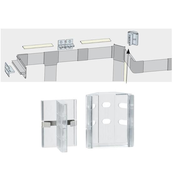 2er set paulmann duo profil clix befestigung led leiste stripe 7 99. Black Bedroom Furniture Sets. Home Design Ideas