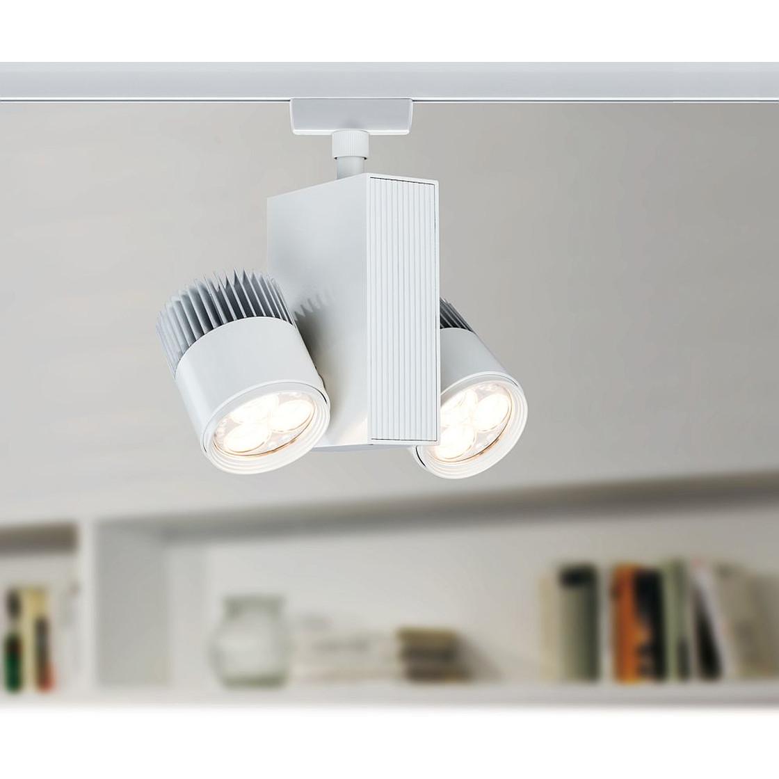 Paulmann urail serie led spot tecled 2x9 w weiss for Lampen rampe