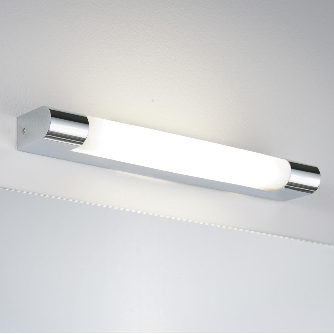 paulmann spiegelleuchte mizar ip44 chrom 8w 370mm inkl leucht 54 99. Black Bedroom Furniture Sets. Home Design Ideas