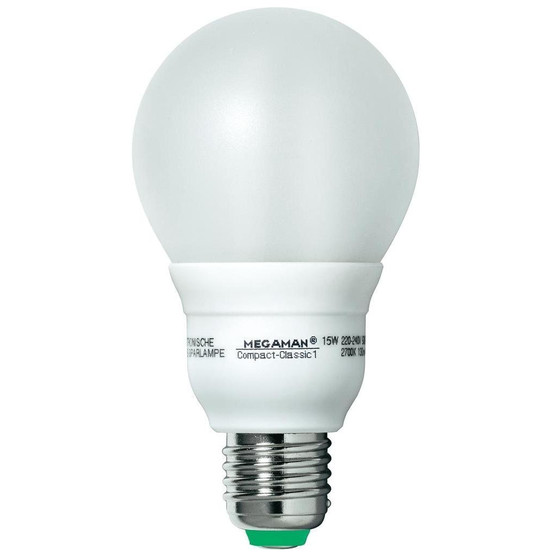 Megaman MM80816 Energiesparlampe Compact Classic 15W E27 Warmweiss 220V