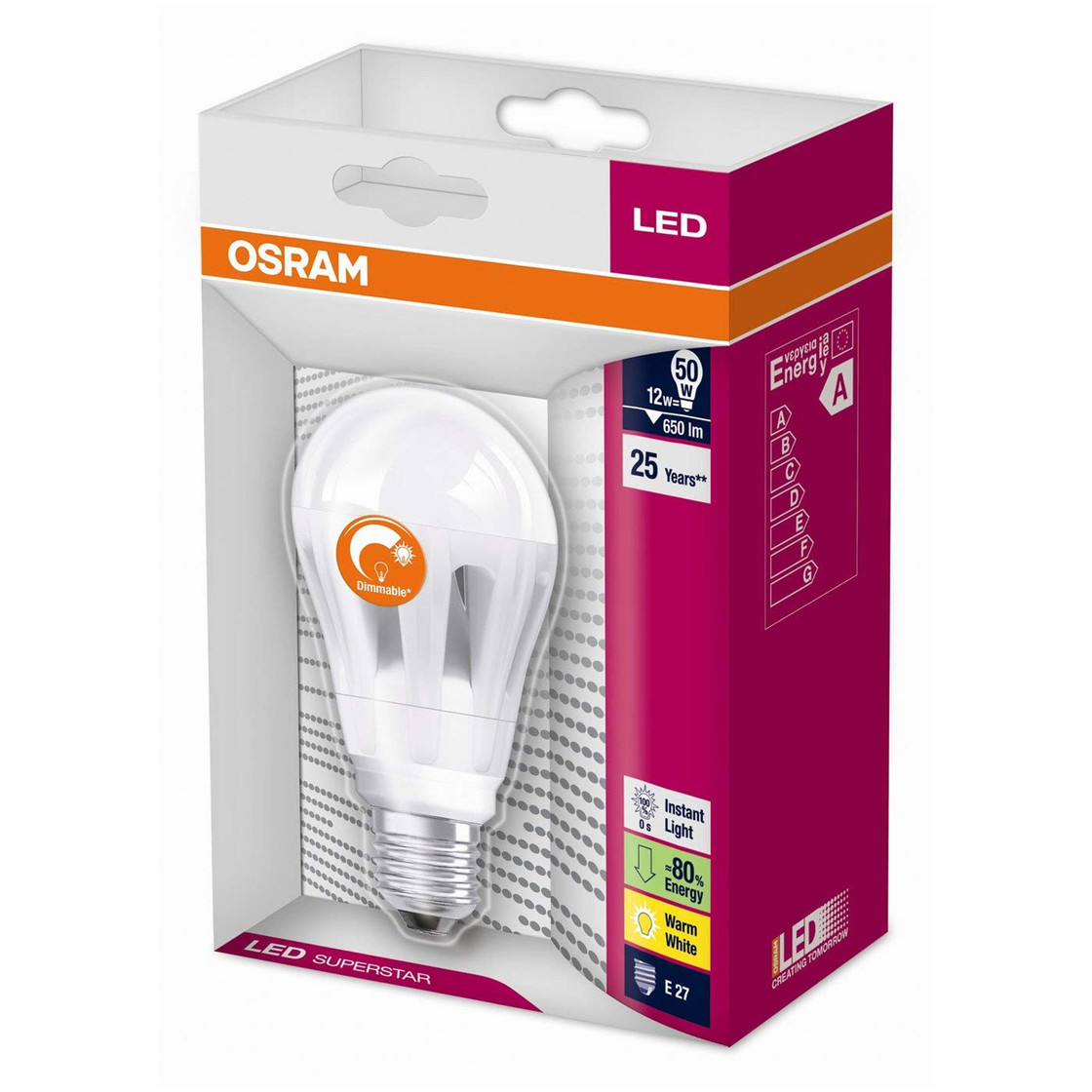 osram led superstar classic agl dimmbar matt e27 12w 50w gl hlampe 12 99. Black Bedroom Furniture Sets. Home Design Ideas