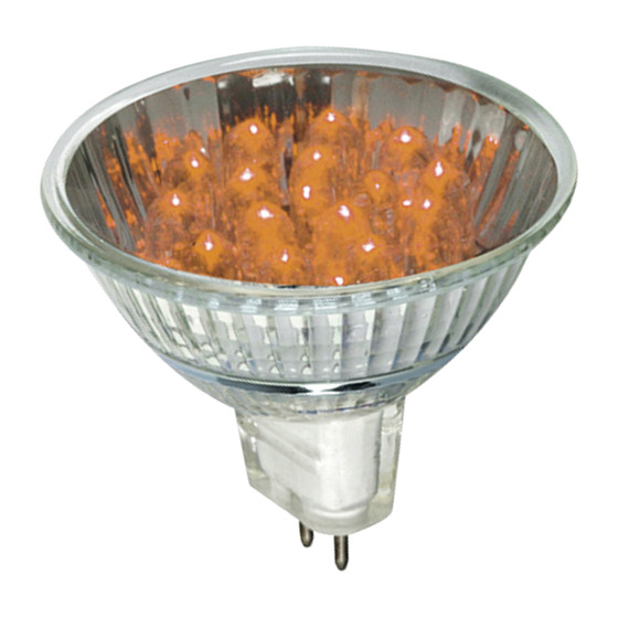 Paulmann 280.23 LED Reflektor 1W GU5,3 orange 45mm Höhe