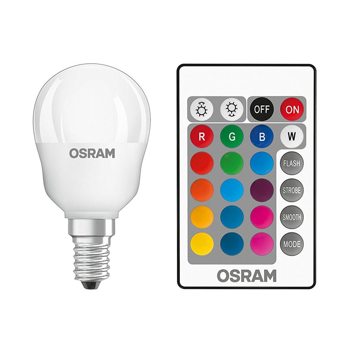 Osram LED Star+ Tropfen Lampe E14 4,5W=25W Farbwechsel Fernbedienung ...