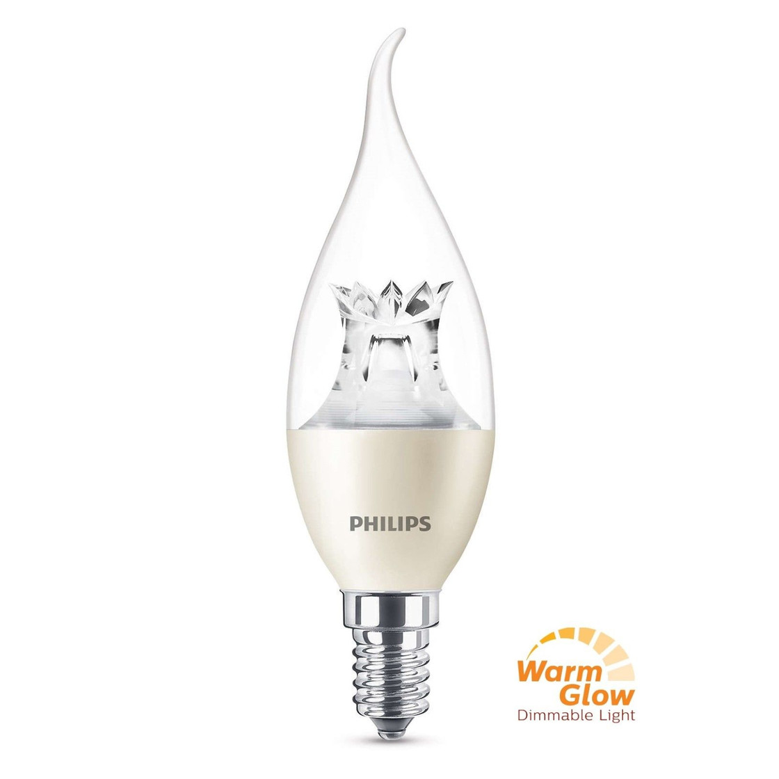 philips led e14 filament windsto kerze lampe 4w 25w warmwei dimmb 4 99. Black Bedroom Furniture Sets. Home Design Ideas
