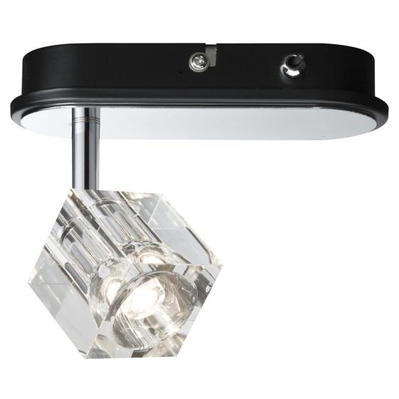 paulmann icecube strahler led 1x3w chrom inkl leuchtmittel 19 99. Black Bedroom Furniture Sets. Home Design Ideas