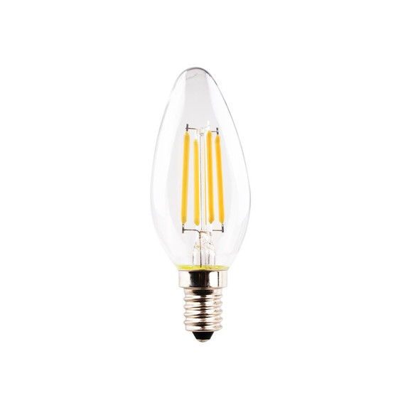 Müller Licht 400190 LED Lampe Kerzenform RETRO 4 W Warmweiss E14 Klar