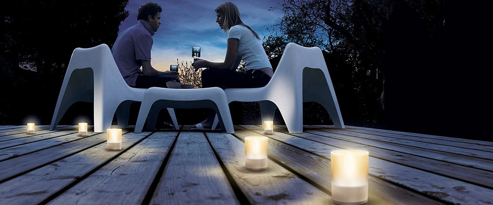 LED - Kerzen für den Außenbereich